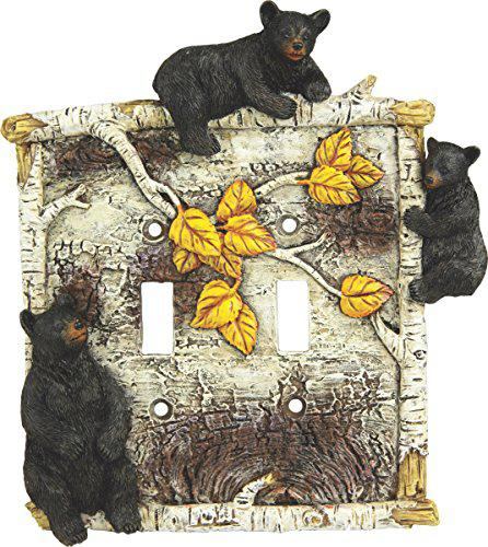 Rivers Edge Products Birch Bear Double Switch Cover?>