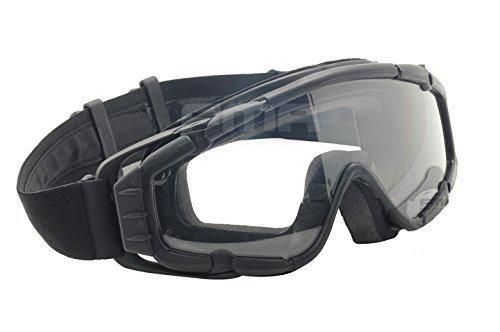 Fan Version Cooler Paintball Airsoft Glass SI-Ballistic Goggles Ski Snowboard BK?>