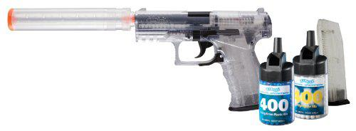 Walther 2272544 PPQ Spring Airsoft Pistol Kit with Accessories, Clear?>