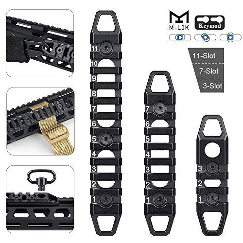 3-Slot 7-Slot 11-Slot M-LOK/Keymod Aluminum Picatinny Rail Section Accessories for M-LOK/Keymod System?>