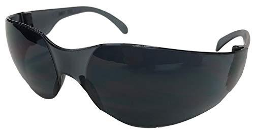 1209B - Safety Glasses with Black Frame and Black Tinted Polycarbonate Lens?>