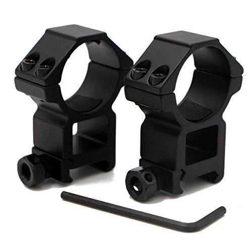 RioRand 2pcs 30mm High Profile Tactical Rifle Scope Ring double nail Picatinny/Weaver Rail Dovetail Mount wide 22mm?>