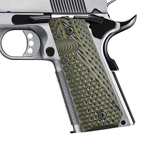 1911 Commander Grips Colt Full Size Government 1911 Grips, Eagle Wings Texturl G10 Material Ambi Safety Cut,fit Colt Kimber Rock Island Sig Sauer Smith&Wesson Springfield Armory Taurus and More?>