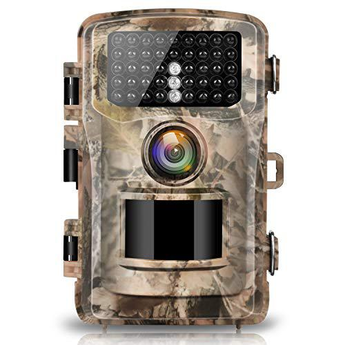 "Campark Trail Camera 1080P Hunting Cam 14MP 2.0"" Color LCD Wildlife Game Scouting Digital Surveillance Camera with 75ft/23m Infrared Night Vision 42pcs IR LEDs IP56 Waterproof?>"