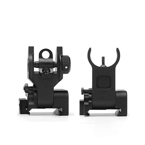 Tactical Iron Flip Up Sights,Low Profile Front + Rear Flip Up Sights?>