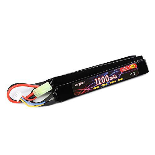 Fconegy 3S 11.1V 1200mAh 20C Lipo Battery Pack with Small Tamiya Plug for Airsoft Gun?>