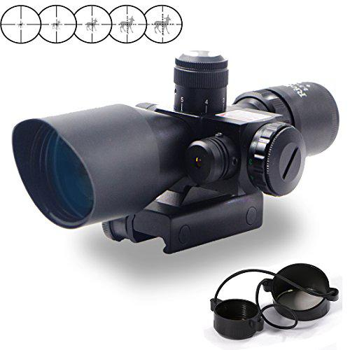 RioRand 2.5-10x40 Tactical Rifle Scope Red & Green Sight Dual Illuminated Mil-dot with Rail Mount?>