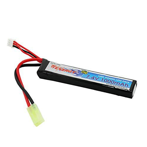 Tenergy 7.4V LiPo Airsoft Battery 1000mAh 20C Stick Battery Pack with Mini Tamiya Connector for Airsoft Guns M4, AK47, G36, RPK, PKM, L85?>