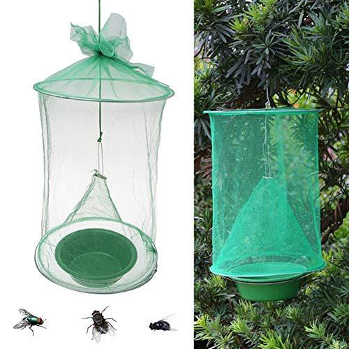 Fly Catcher Cage Traps Folding Environmentally Friendly Fly Catcher Rotifer Cage for Indoor Outdoor Family Farm Park Restaurants?>