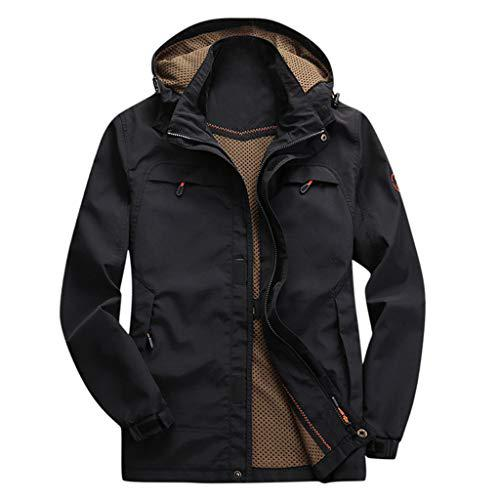 Men's Outdoor Windbreaker Jacket, Fashion Hooded Waterproof Tactical Rain Coat Breathable Thick Warm Sports Outwear?>