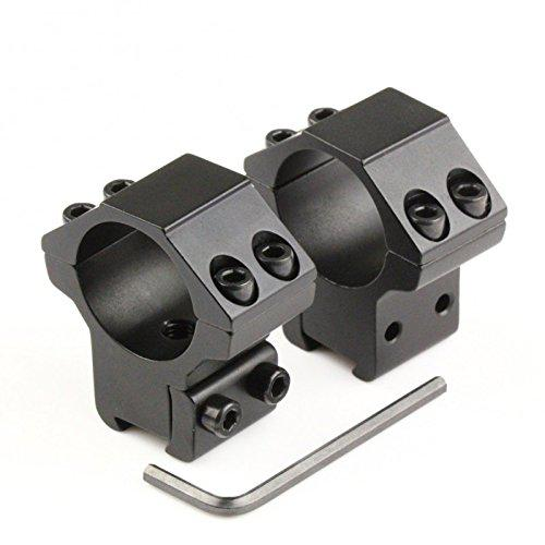 RioRand 2pcs Medium Profile Dovetail 11mm Scope Mount Rail Rings 1'' Inch 25.4mm?>
