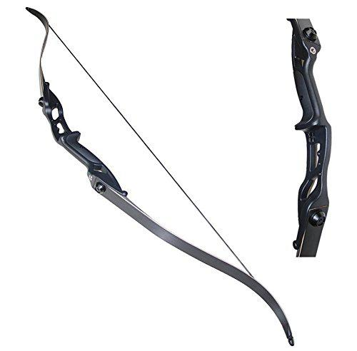 "Toparchery Archery 56"" Takedown Hunting Recurve Bow Metal Riser Right Hand Black Longbow?>"