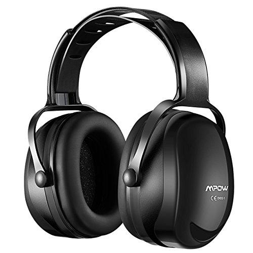 Mpow 044 Upgraded Ear Muffs, Adjustable Headband Design for Comfortable Fit, NRR 29dB Hearing Protection Noise Reduction Ear Muff for Shooting, Hunting, Welding, Mowing, Construction - Black?>