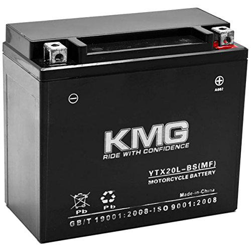 KMG Battery for Yamaha 660 YFM66FA Grizzly 2002-2008 YTX20L-BS Sealed Maintenace Free Battery High Performance 12V SMF OEM Replacement Powersport?>