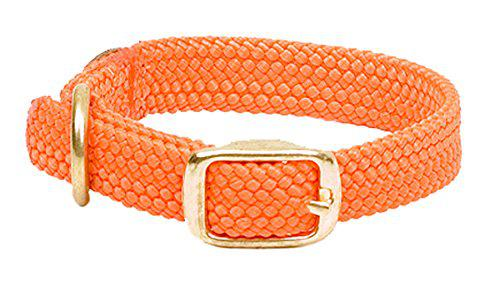 Mendota Products 31106 Double Braid Dog Collar, Orange, 1 x 21-Inch?>