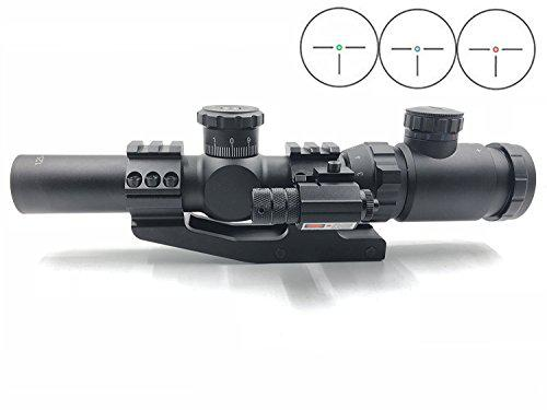 Huntiger Rifle Scope 1.25-5x26 Riflescopes Hot Tactical Red Laser Beam Dot Sight Scope for Gun Rifle Pistol Picatinny Mount?>