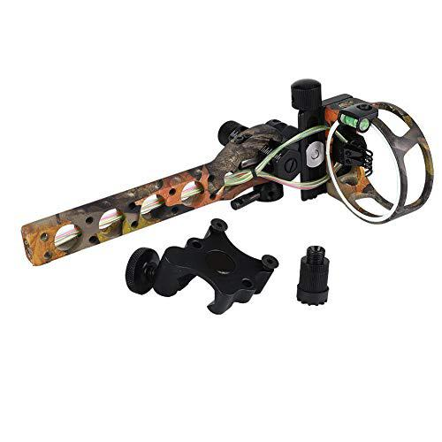 "Archery Bow Sight,Archery 5 Pins 019"" Fiber Optics Bow Sight with LED Sight,Micro Adjust Sight Detachable Bracket Light?>"