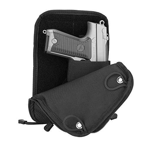 ProCase Pistol Bag, Tactical Soft Shooting Gun Range Bag Handgun Magazine Pouch Duffle Bag for Hunting or Shooting Range Sport- Black?>