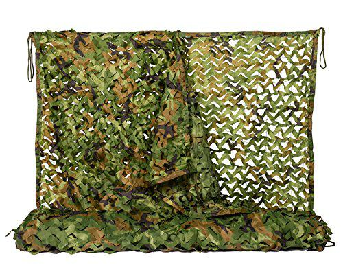 NINAT Woodland Camo Netting Camouflage Net for Camping Military Hunting Shooting Sunscreen Nets 3.25x6.5ft,6.5x10ft,5x13ft,10x10ft,6.5x16.4ft,6.5x20ft,6.5x26ft,13x16.5ft,13x20t,20x20ft,20x23ft?>