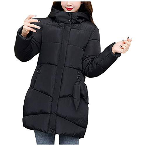 Wenini Women Casual Loose Thick Coat Long Sleeve Hooded Coat Winter Warm Jacket Cotton Lined Clothes?>