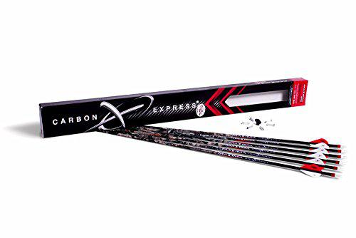 Carbon Express 569 Maxima Hunter Fletched BuffTuff Carbon Arrows with Blazer Vanes, Mossy Oak Treestand Pattern?>