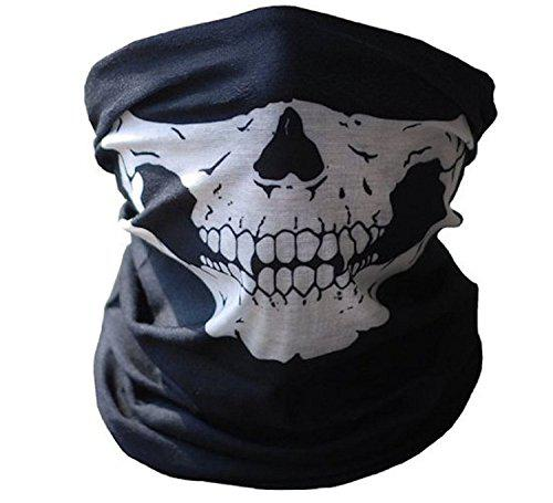 Festival Skull Face Mask Stretchable Windproof Half Facemask Headwear Motorcycle Biker Cycling Riding Mask?>