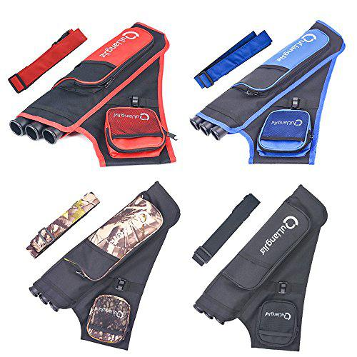 3 Tube Arrow Quiver Archery Hip Quivers 4 colors?>