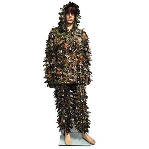 coolwild 3D Camouflage Woodland Ghillie Suit Camouflage Clothing for Outdoor Work Training Hunting Concealed (Jacket, Pants, Camouflage Storage Bag) Beautiful Gifts?>