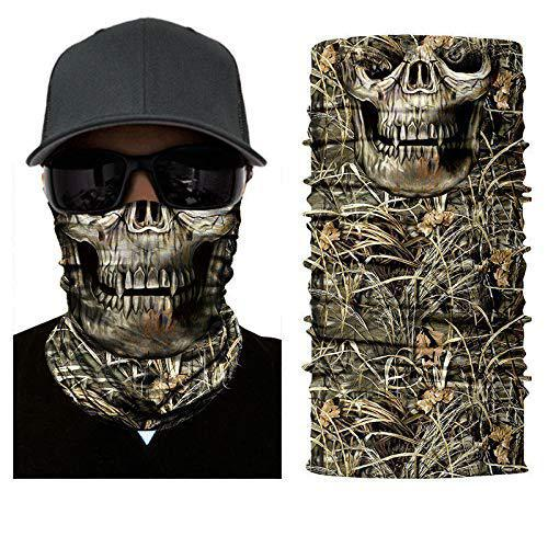 3D Dregs Skull Camo Face Shield Sun Mask Balaclava Neck Gaiter Bandana UV Headwear Fishing Hiking Cycling Hunting?>