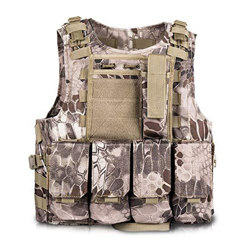 Toyfun Kids Tactical Vest Kit Woodland Camo Combat Assault Waistcoat Army/Military/Police Style, Adjustable and Multi-Colors?>