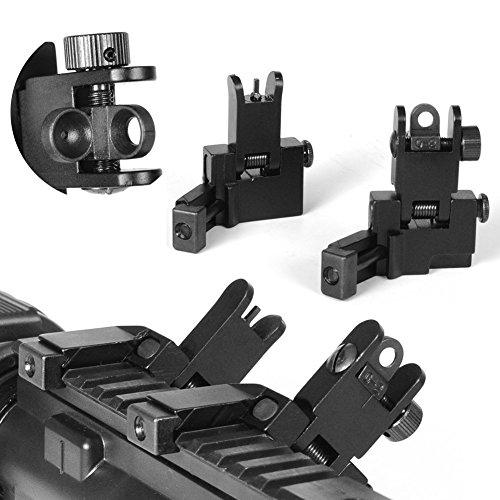 HWZ New Tactial Front and Rear Flip up 45 Degree Offset Rapid Transition Backup Iron Sight?>