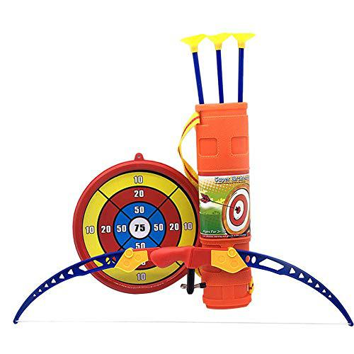 PER Children Toy Bow Arrow Archery Set with Arrow Holder& Target Safe Sucker Arrow for Kids?>