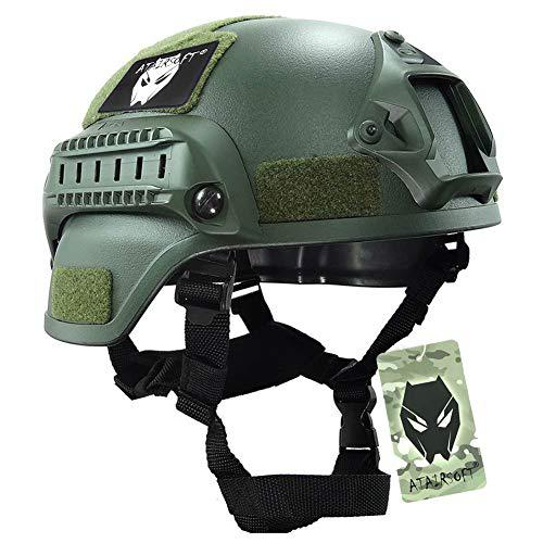 ATAIRSOFT Tactical Airsoft Paintball MICH 2000 Helmet with Side Rail & NVG Mount?>