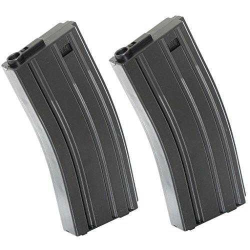 Airsoft Gear Parts Accessories 2pcs 120rd Mag Mid-Cap Econ Magazine For M-Series Black?>