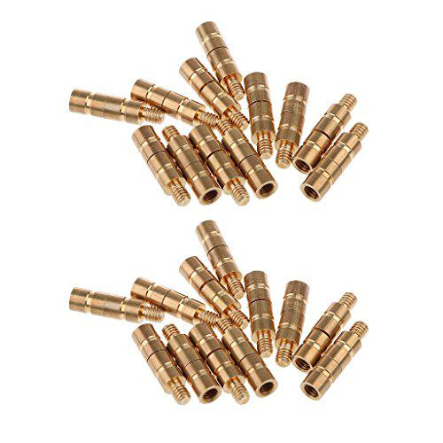 24 Pieces 50 Grains Weight Screw Arrow Point Insert Archery Accessories Gold?>