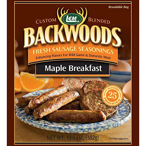 LEM Products 9013 Backwoods Maple Breakfast Fresh Sausage Seasoning?>