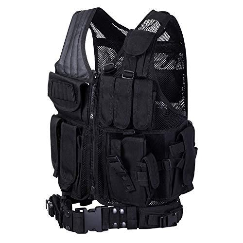 HWZ Tactical Vest Combat Vest Outdoor Multi-Function CS Field EVA Thick Guard Vest