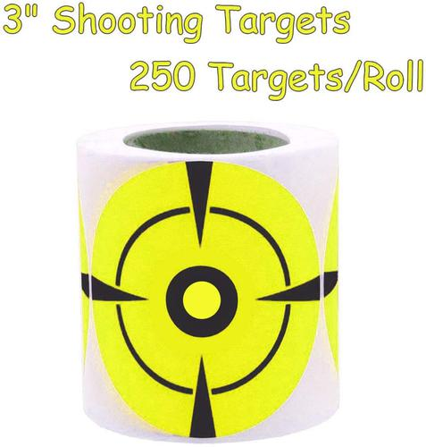 Besttile 3 Inch Target Stickers -Adhesive Shooting Targets - Target Pasters- 250 Targets Per Roll?>