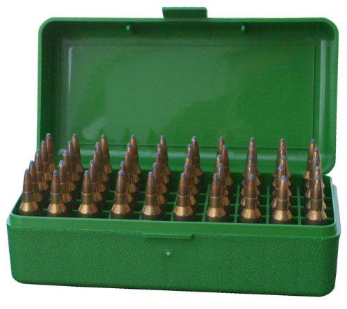 MTM 50 Round Flip-Top Rifle Ammo Box .22-250 to 7.62 X 39?>
