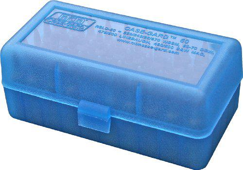 MTM 50 Round Flip-Top Rifle Ammo Box WSM, 45-70 (Clear Blue)?>