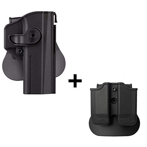 IMI CZ Shadow 2 Holster + Double Magazine Pouch, Polymer Retention 360 roto Level 2 Safety w Trigger Guard Lock Tactical Gun Holster for CZ P-09 & Shadow2 Pistol Handgun?>