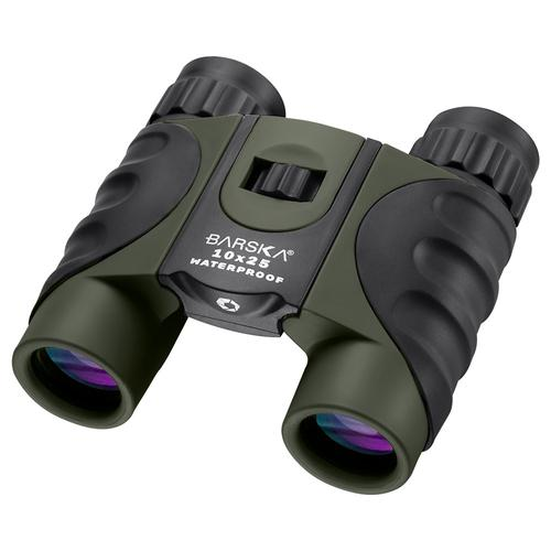 BARSKA 10x25mm Green Waterproof Compact Binoculars by Barska AB12723 Model Number: AB12723?>