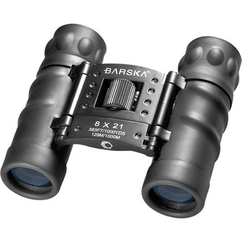 BARSKA 8x21mm Style Compact Binoculars by Barska AB10212 Model Number: AB10212?>