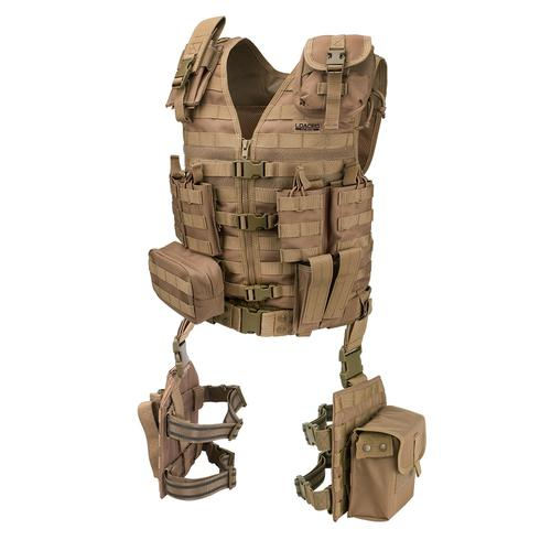 BARSKA Loaded Gear VX-100 Tactical Vest and Leg Platforms (Flat Dark Earth) BI12344 Model Number: BI12344?>