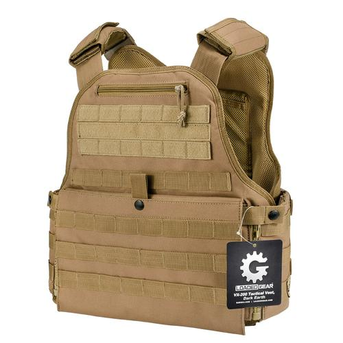 BARSKA MOLLE Plate Carrier Tactical Vest VX-500 Loaded Gear FDE Tan By Loaded Gear BI12312 Model Number: BI12312?>