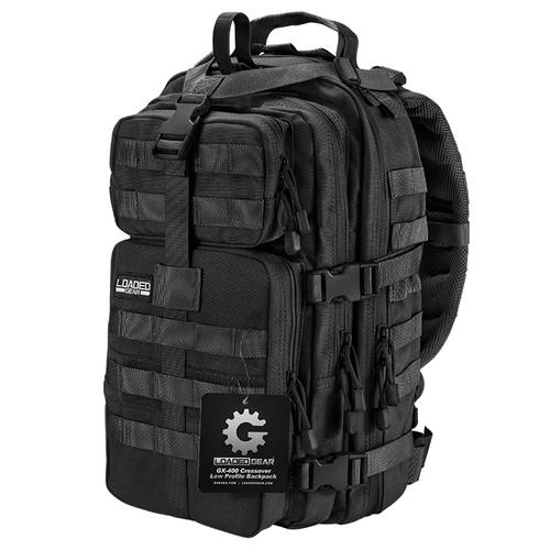 BARSKA Loaded Gear GX-400 Crossover Tactical Backpack (Black) BI12602 Model Number: BI12602?>