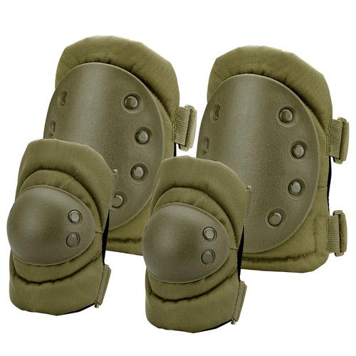 BARSKA Loaded Gear CX-400 Elbow and Knee Pads (OD Green) By Barska BI12280 Model Number: BI12280?>