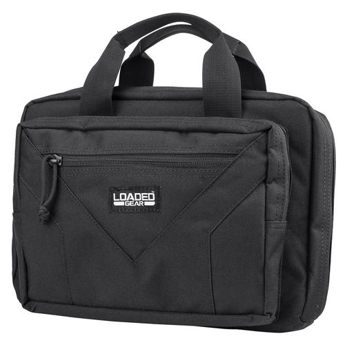 "BARSKA Loaded Gear RX-800 12"" Dual Tactical Pistol Bag (Black)  BI13226 Model Number: BI13226?>"