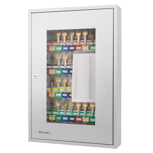 BARSKA 50 Position Key Cabinet with Glass Door CB12950 Model Number: CB12950?>