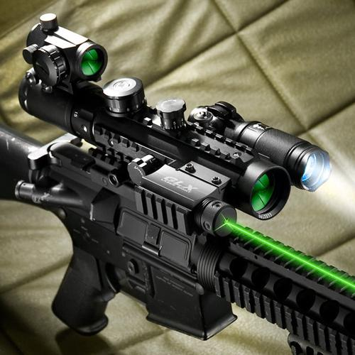 BARSKA 1-3x30mm IR Sight, Green Laser, Light Ultimate Combo By Barska AC11396-CO-G Model Number: AC11396-CO-G?>
